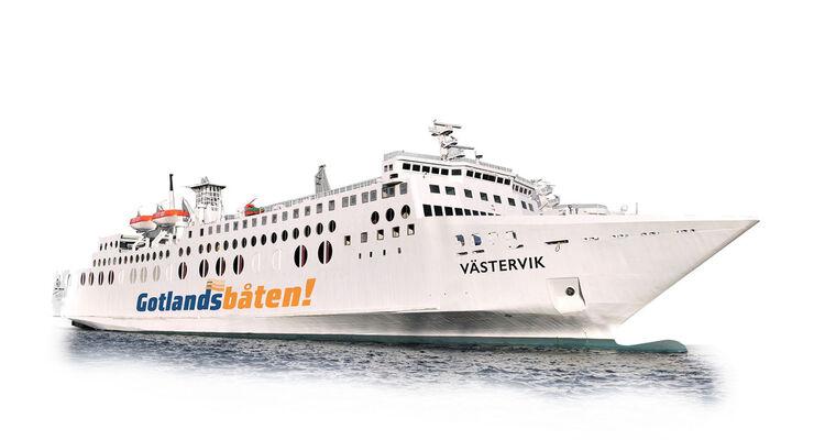 Ab dem 16. Juni bis Mitte August betreibt die Reederei Gotlandsbåten die Fährlinie mit bis zu vier Abfahrten täglich. Die Überfahrt mit der Fähre dauert etwa 3 Stunden und 20 Minuten.