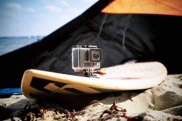 Actioncam am Surfbrett