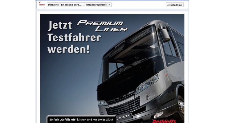 """Als Testfahrer kann man """"Premium Liner"""" fahren – kostenlos. Alles, was man dafür tun muss, ist, sich über Facebook zu bewerben."""