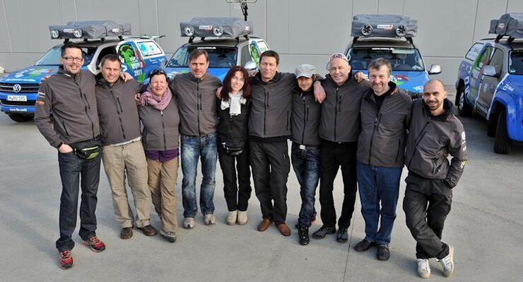Auch im zehnten Jahr der World Aids Awareness Expedition (WAAE) unterstützt VW Nutzfahrzeuge Joachim Franz