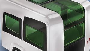 Auf dem Caravan Salon 2013 in Düsseldorf stellt Polyplastic unter anderem ein elektrisch bedienbares Schiebedach für Reisemobile vor.