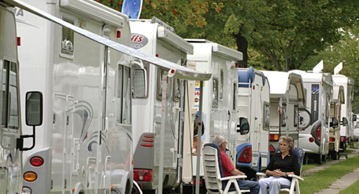 Caravan, salon, center, Reisemobil, wohnmobil, caravan, wohnwagen