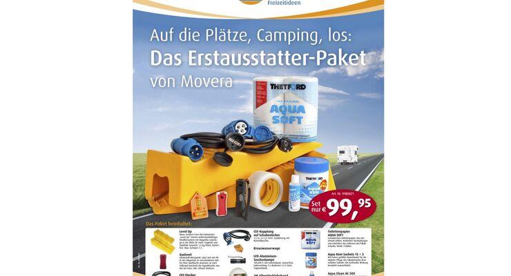 Caravan- und Reisemobil-Neueinsteiger bietet Movera mit einem Grundausstattungs-Paket an für unter 100 Euro.
