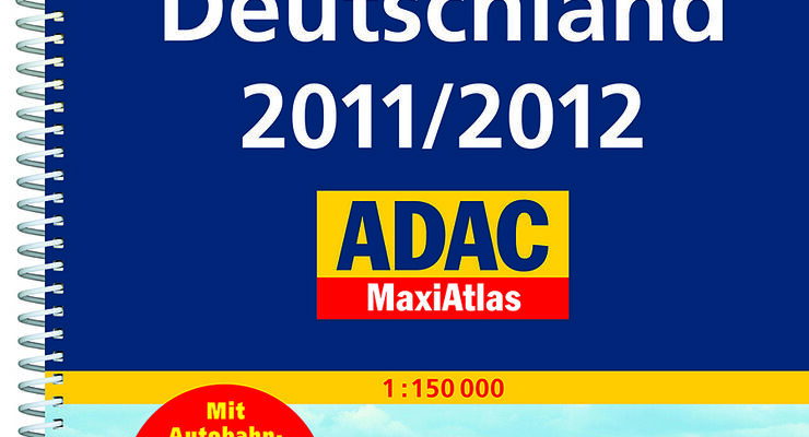 Der ADAC präsentiert seinen neuen Maxi-Atlas Deutschland 2011/2012 im Maßstab 1:150.000 mit Straßenregister