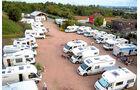 Der Reisemobilhafen bietet Platz für 42 Mobile.