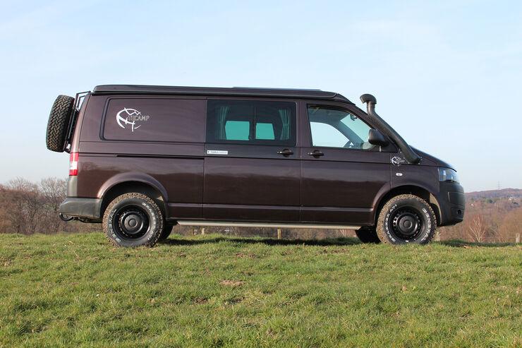 Der Tecamp basiert auf einem VW T5 mit langem Radstand.