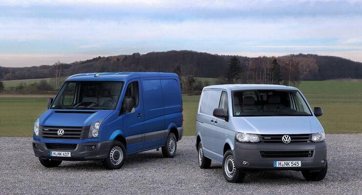 Der Transporter und der Crafter BlueMotion nehmen durch ihre niedrigen Verbrauchswerte eine Sonderstellung ein