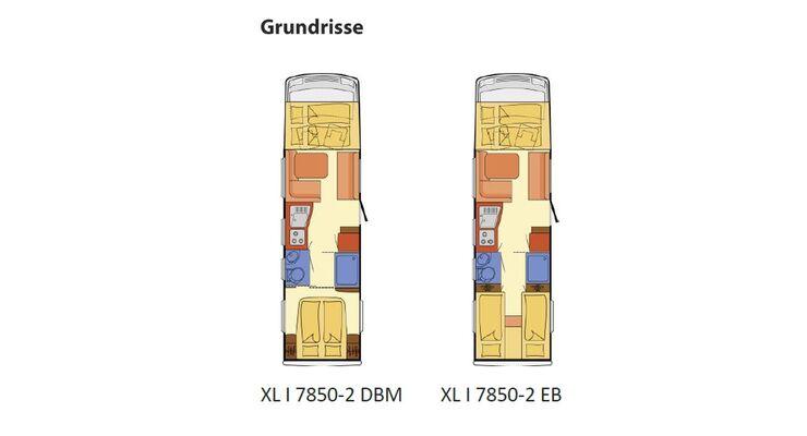 Der XL Integrierte ist der Sportliche unter den großen Luxusmobilen. Trotz Doppelboden misst er nur 293 cm in der Höhe.