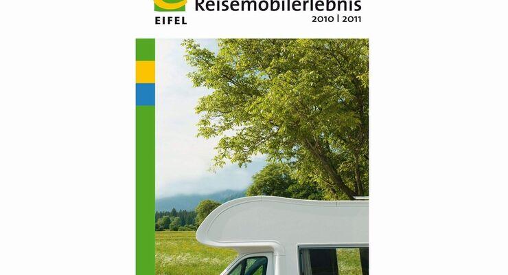"""Die Karte """"Reisemobilerlebnis Eifel"""" zeigt auf einer Übersichtsgrafik, wo sich der nächste Wohnmobil-Stellplatz befindet"""