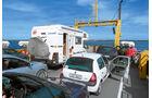 Eine kostenlose Faehre pendelt zwischen Gotland und Faroe.
