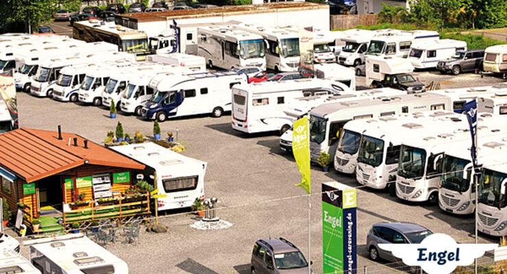 Engel-Caravaning Frankfurt Hausmesse wohnwagen caravan reisemobil wohnmobil