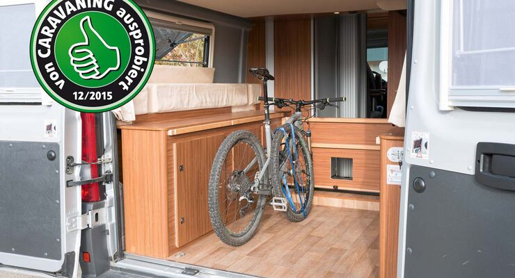 bike inside f rs wohnmobil getestet von promobil promobil. Black Bedroom Furniture Sets. Home Design Ideas