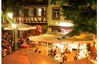 Gastromeile rund um den Markt in Weinheim
