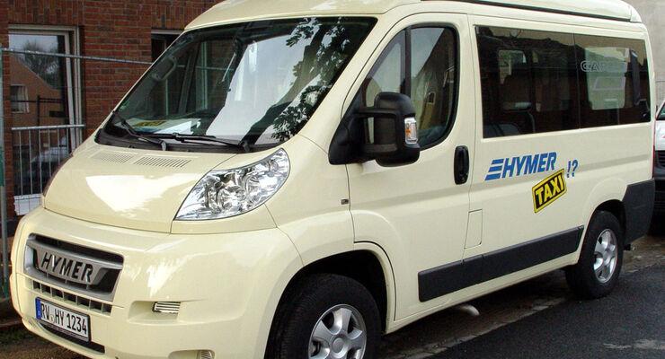 Hymer: Deutschlands erstes Reisemobil-Taxi ist während des Caravan Salon in Düsseldorf im Einsatz