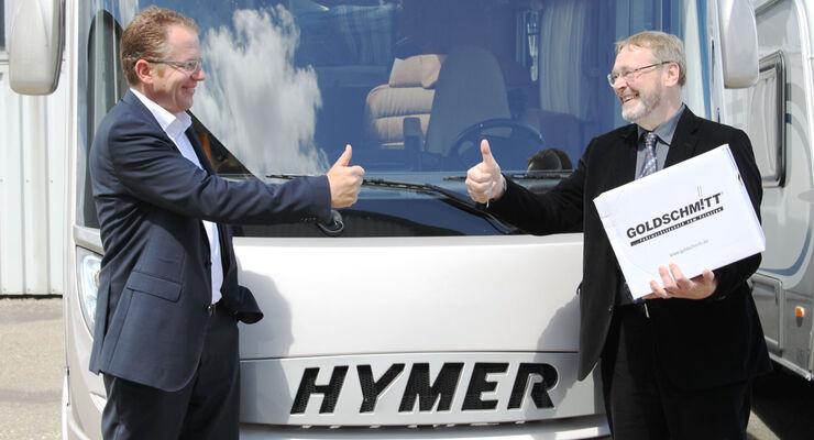 Hymer und der Fahrwerkspezialist Goldschmitt arbeiten künftig enger zusammen