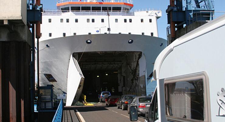 Irish Ferries Irland Fähre wohnmobil reisemobil caravan wohnwagen