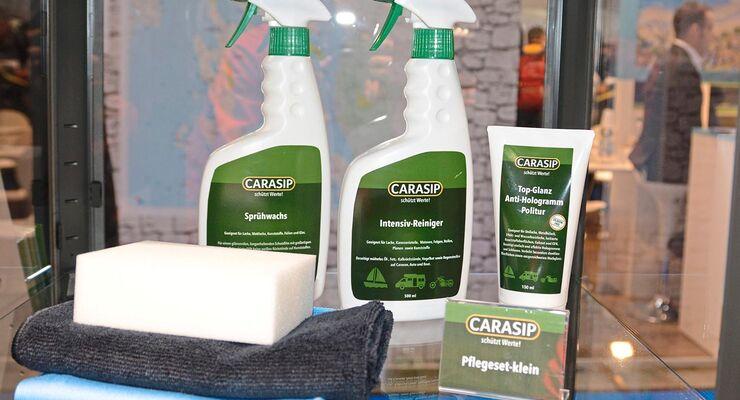 Jedes Wohnmobil sollte regelmäßig geputzt und gepflegt werden. Carasip bietet dafür eine umfangreiche Pflegeserie an.