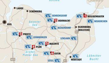 Karte Region Holsteinische Schweiz