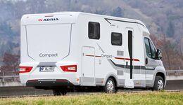 Langer Überhang und kurzer Radstand beim Adria Compact