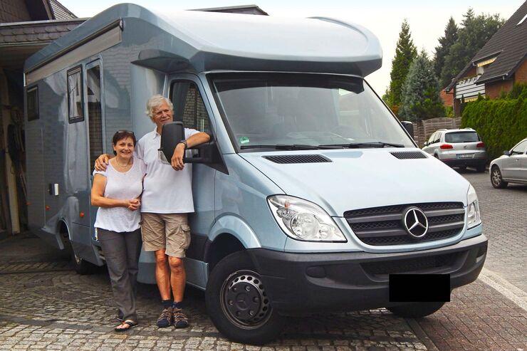 Lesermobil Jürgen Ahlemann mit Frau