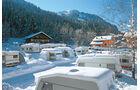 Loipe am Platzrand, Skilift 300 Meter entfernt.