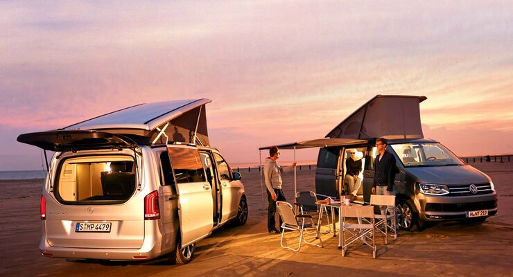 Mercedes Marco Polo und VW California Ocean