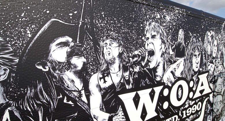 Mit Show-Fahrzeugen zum Heavy-Metal-Festival in Wacken zeigt Hobby seine wilde Seite.
