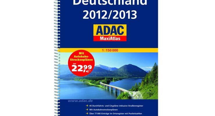 Mit dem Maßstab 1:150 000 des ADAC MaxiAtlas Deutschland 2012/2013 findet der Autofahrer auch kleinste Straßen und Wege