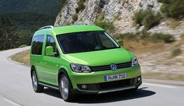 Mit den entsprechenden Pkw-Modellen Polo, Golf und Touran komplettiert der Caddy die Cross-Lifestyle-Familie.