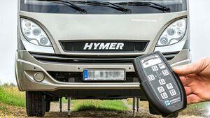 Mit hydraulischen Hubstützen lassen sich Reisemobile bequem nivellieren.