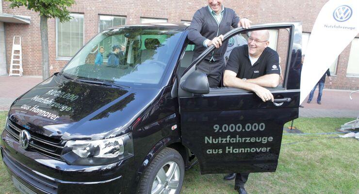 Neun Millionen leichte Nutzfahrzeuge wurden bislang in Hannover produziert. Das Jubiläumsfahrzeug wurde verlost.