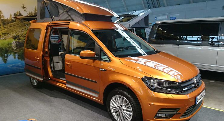 reimo vw caddy maxi camper g nstiger campingvan in pkw gr e promobil. Black Bedroom Furniture Sets. Home Design Ideas