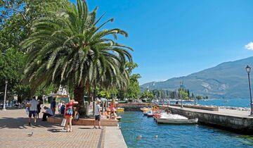Riva del Garda am nördlichen Ufer des Sees.