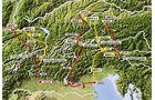 Routen über die Alpen Übersicht