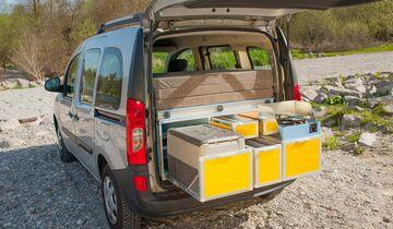 camping im hochdachkombi unterwegs im mini camper promobil. Black Bedroom Furniture Sets. Home Design Ideas