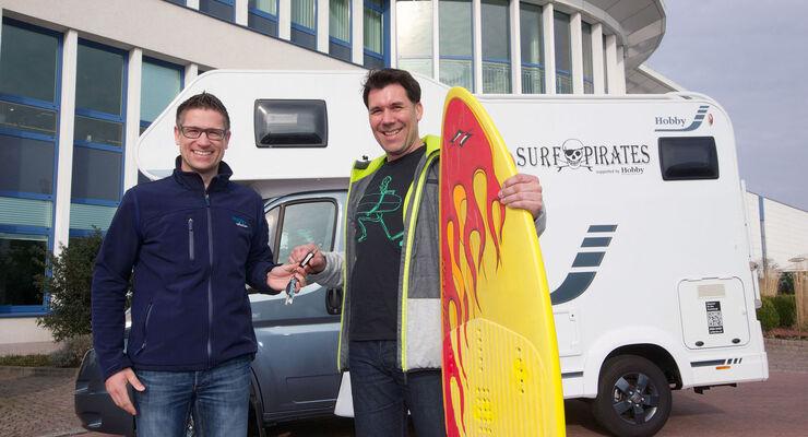 Surfpirates auf Tour mit dem Hobby Siesta A55 GS Sport.