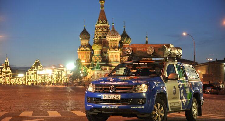 Unterstützt von Volkswagen Nutzfahrzeuge war das Team von Joachim Franz 111 Tage unterwegs