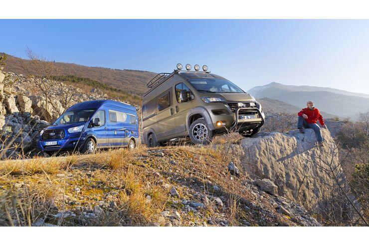 Vergleichstest Karmann Dexter 560 Trend 4X4, Westfalia Amundsen 540 D Offroad