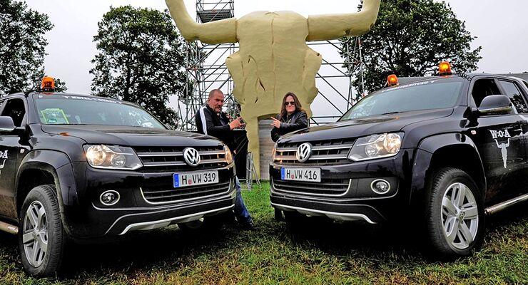 Volkswagen Nutzfahrzeuge unterstützte dieses Jahr erstmals das Wacken Open Air mit vier Amarok und vier Multivan
