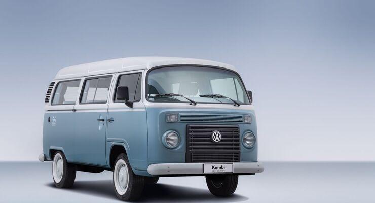 Volkswagen bringt in Brasilien diesen Monat die letzten 600 Exemplare des Kombi auf den Markt, wie der dortige Bulli heißt.