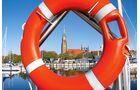 Vom schönen Stellplatz am Stadthafen in Schleswig ist es nicht weit zu St. Petri.