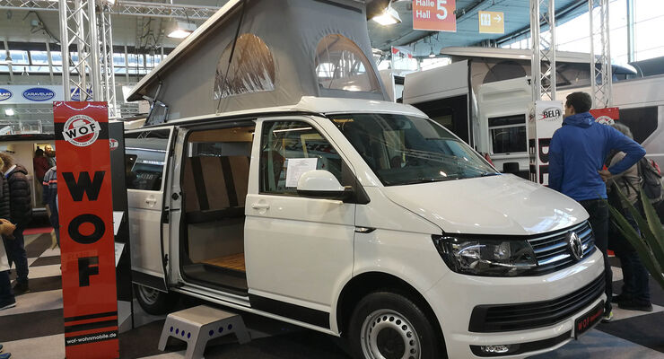 g nstige bullis auf der cmt 2018 vw t6 ausbau unter euro promobil. Black Bedroom Furniture Sets. Home Design Ideas