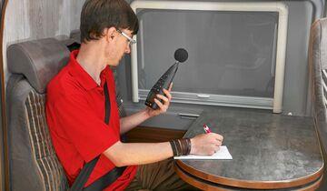 Während der Messfahrten wurde die Geräuschentwicklung akribisch dokumentiert.