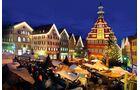 Weihnachtsmarkt in Esslingen klassisch im Mittelalter Stil.