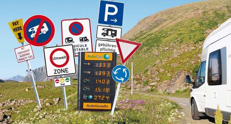 Wer mit Mobil auf Reisen geht, muss über die Reglen Bescheid wissen.